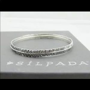 silpada sterling feather bangle